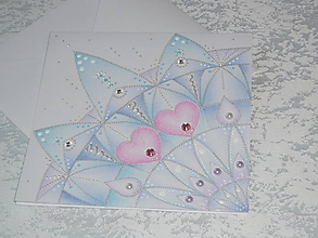 Papiernictvo - Pohľadnica srdiečková....belasá - 8612633_