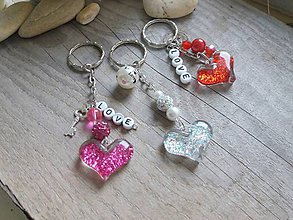 Kľúčenky - Srdiečko-kľúčenka - 8614656_