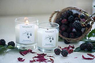 Svietidlá a sviečky - Vonná sviečka - Černica - 8612723_