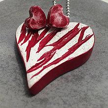 Sady šperkov - Betónový set LOVE Art red-white - 8611405_