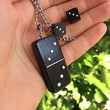 Sady šperkov - Betónový set DICE III black - 8611479_