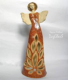 Dekorácie - Anjel-ka veľká  - svietnik - 8613254_