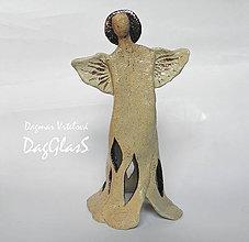 Dekorácie - Anjel - svietnik - 8613308_