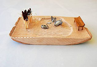 Dekorácie - Dekorácia z dreva - Labutie jazero - 8612499_
