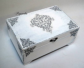 Krabičky - Sivé srdce - 8612824_