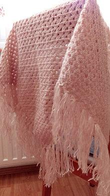 Šatky - Luxusná púdrovo ružová šatka - 8614327_