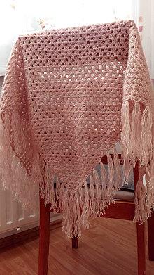 Šatky - Luxusná púdrovo ružová šatka skladom - 8614329_