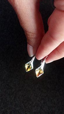 Náušnice - Swarovski Rhombus v striebre (Ag 925/1000) - 8614406_