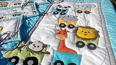 Textil - zvieratká vo vláčiku - 8612160_