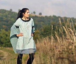 Šaty - Zelenomodré kytkové - 8611636_