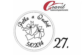 Papiernictvo - Svadobne razítko 27 - 8613565_