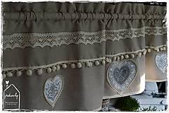 Úžitkový textil - Krátka záclona - 8611317_