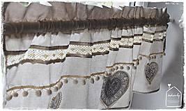 Úžitkový textil - Krátka záclona - 8611320_