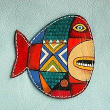 Taštičky - Blue Whale / kožená taštička - 8613802_