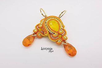 Náušnice - Náušnice Yellow Opal - 8616355_