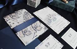 Papiernictvo - Svadobné oznámenie Ink blossom - 8617530_
