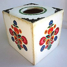 Krabičky - Krabica na vreckovky- ornamenty - 8615390_