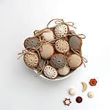Dekorácie - Obrovské orechy (100% biobavlna, 10 ks) - 8616543_
