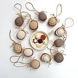 Dekorácie - Obrovské orechy (100% biobavlna, 10 ks) - 8616556_