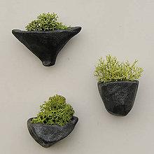 Magnetky - miniatúrna RAKU záhrada (magnetka) - 8618896_