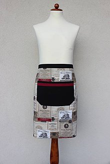 Oblečenie - pánska zástera Bordeaux (polovičná) - 8615132_
