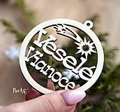 Vianočná ozdoba Veselé Vianoce 1