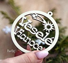 Dekorácie - Vianočná ozdoba Veselé Vianoce 1 - 8618202_