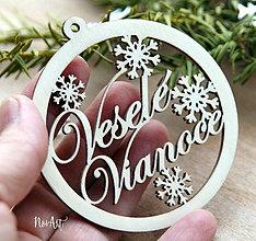 Dekorácie - Vianočná ozdoba Veselé Vianoce 2 - 8618253_