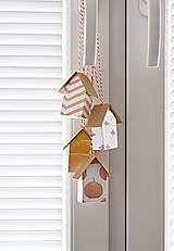 Dekorácie - Závesné domčeky - jeseň - 8618000_