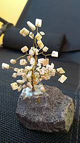 Dekorácie - Stromček pre šťastie Perleť - 8615780_