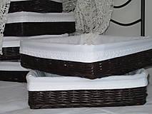 Košíky - Košíky- Čokoládové v bielej košieľke - 8616417_