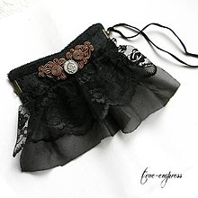 Náramky - Gotický steampunk náramok - 8615325_
