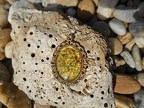 Náhrdelníky - vintage emerald:zľava:5,50e!!!akcia - 8618815_