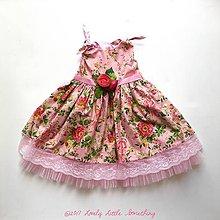 Detské oblečenie - Pink Flower Garden, veľ. 116/122 - 8616237_