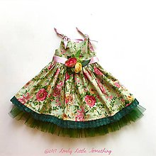 Detské oblečenie - Green Flower Garden - 8616238_