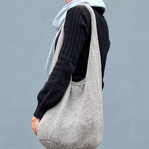 Veľké tašky - veľká pletená taška BIG EGG - 8618507_