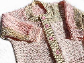 Detské oblečenie - Dievčenský svetrík - 8616363_