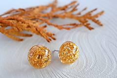 - Náušnice Zlaté ďobky (2254 A CHO) - 8617741_