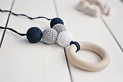 Náhrdelníky - Spln - háčkovaný nielen dojčiaci náhrdelník - 8618971_
