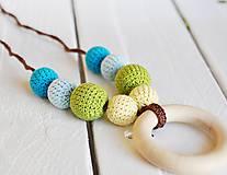 Náhrdelníky - Šťastie - háčkovaný, nielen dojčiaci náhrdelník - 8618976_