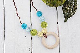 Náhrdelníky - Šťastie - háčkovaný, nielen dojčiaci náhrdelník - 8618978_