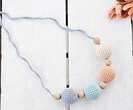 Náhrdelníky - Hmla - háčkovaný, nielen dojčiaci náhrdelník - 8618997_