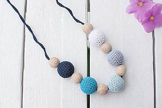 Náhrdelníky - More - háčkovaný nielen dojčiaci náhrdelník - 8619001_