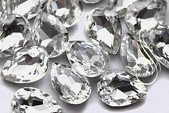 Komponenty - kabošon sklenený crystal clear drop 13 x18 /1ks - 8618230_
