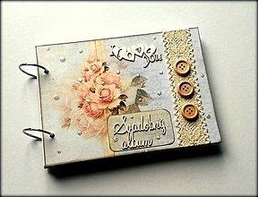 Papiernictvo - Vintage svadobný album A5 - 8615357_