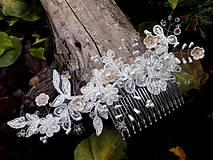 svadobný hrebienok do vlasov - marhuľový