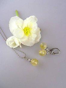 Sady šperkov - citrín pravý náušnice, prívesok v striebre - 8615857_