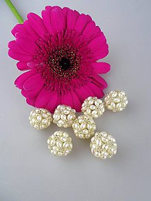 Minerály - pravé perly korálka splietaná 20mm - 8618695_