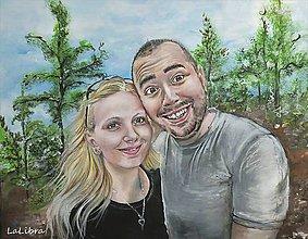Obrazy - Láska hory prenáša-portrét - 8616880_