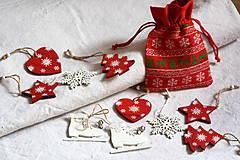 Hračky - Vianočné ozdoby. Drevené Vianočné ozdôbky 10 + 1 ks. - 8615917_
